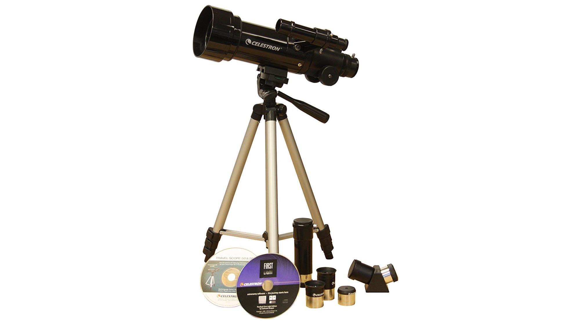 Teleskop celestron travelscope reiseteleskop mit praktis