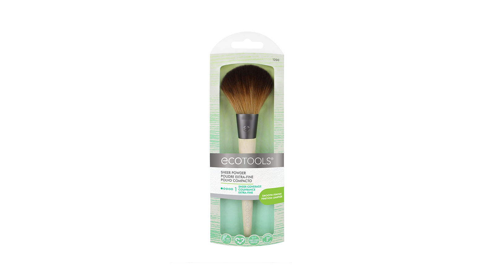 The EcoTools Bamboo Powder brush picks up just the right amount of product for a polished complexion that doesn't look powdery or too 'overdone'.