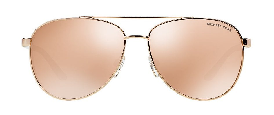 920174dc68c These pilot-pink gold sunglasses from Michael Kors are the coolest aviators  this side of Top Gun