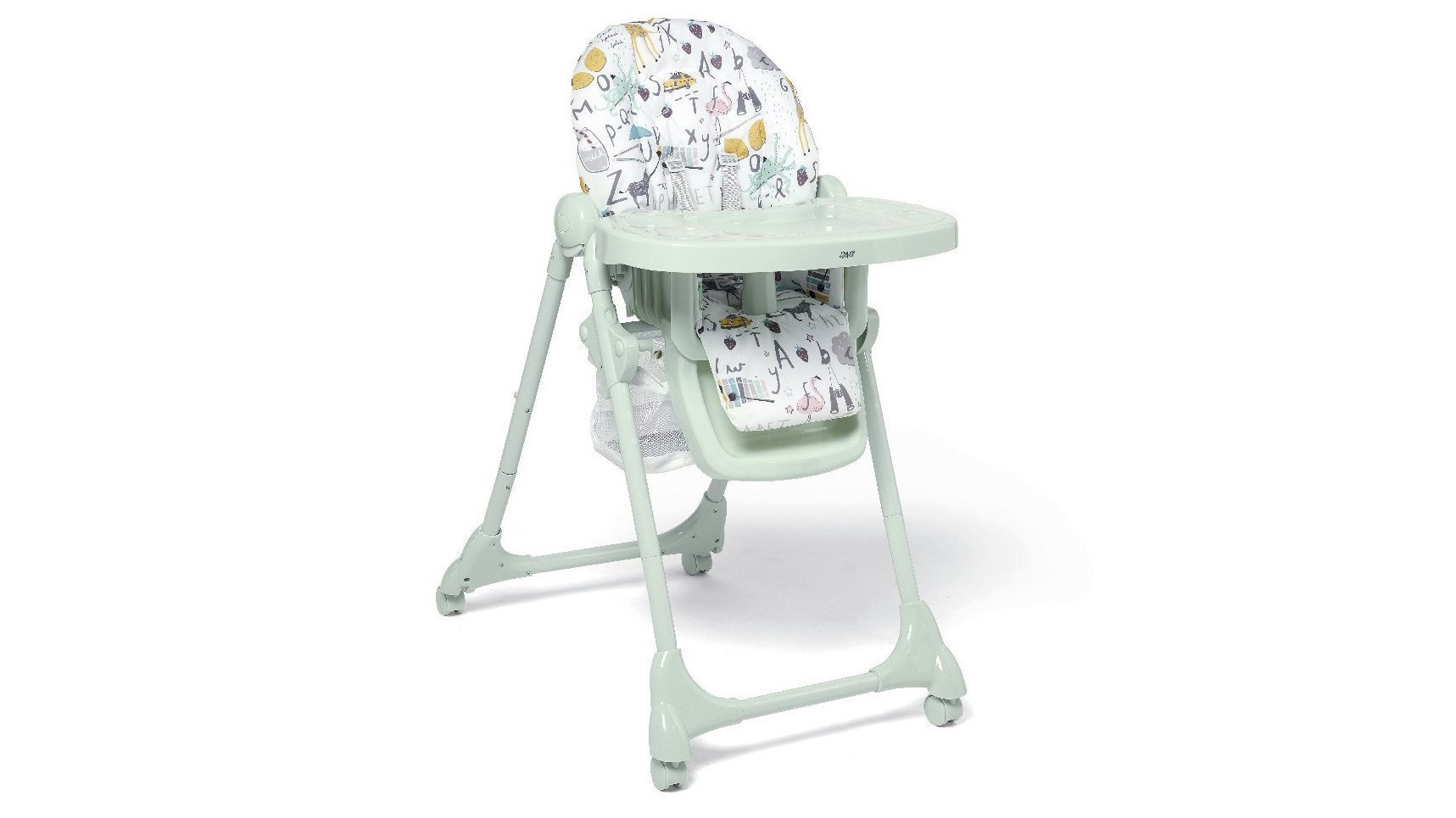 a0c8e08ca8b8b The Snax high chair comes with an extra-comfy padded seat and three  reclining positions