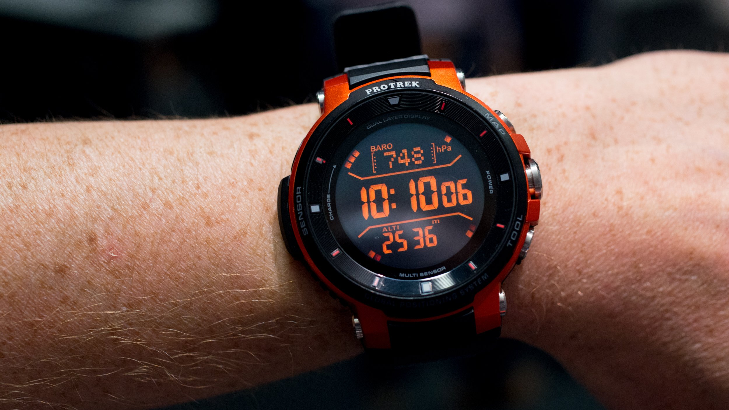casio pro trek wsd f30 review hands on with casio 39 s tough as nails smartwatch expert reviews On pro trek wsd f30