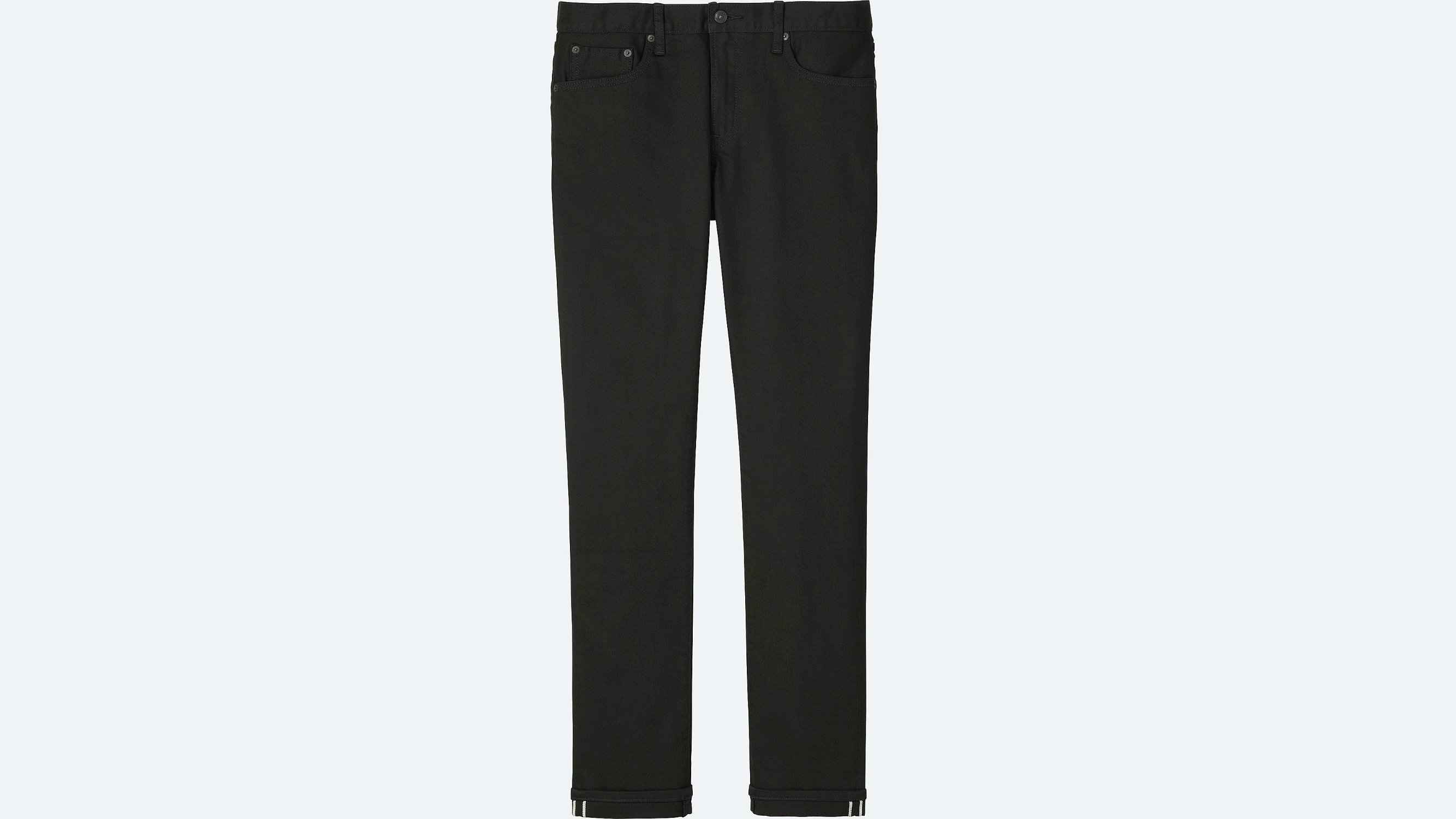 fbb26870 Uniqlo has a reputation for making clothes best suited for slim,  narrow-shouldered men - and if you fit that category, a pair of these black slim  jeans will ...