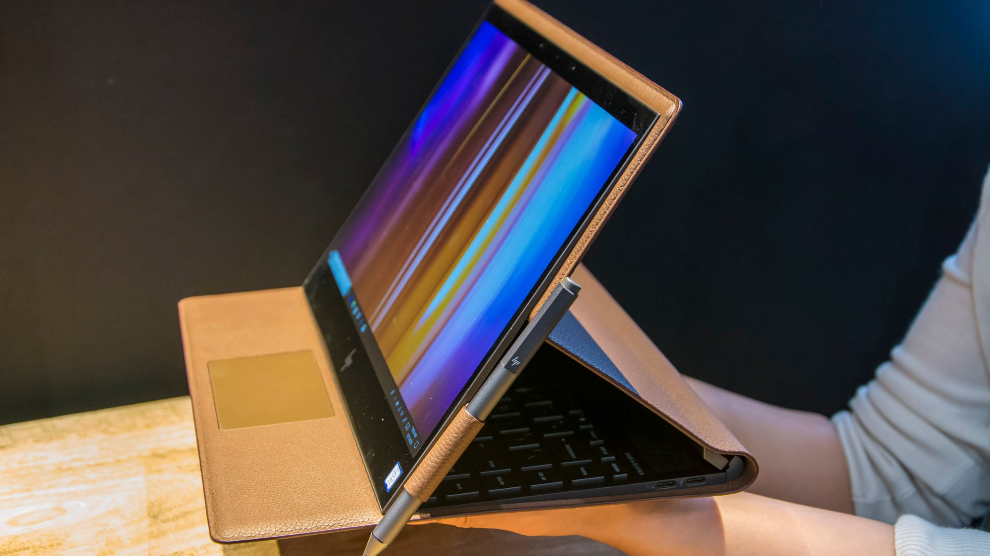 Hp Spectre Folio Review Hands On With Hp S New Leather