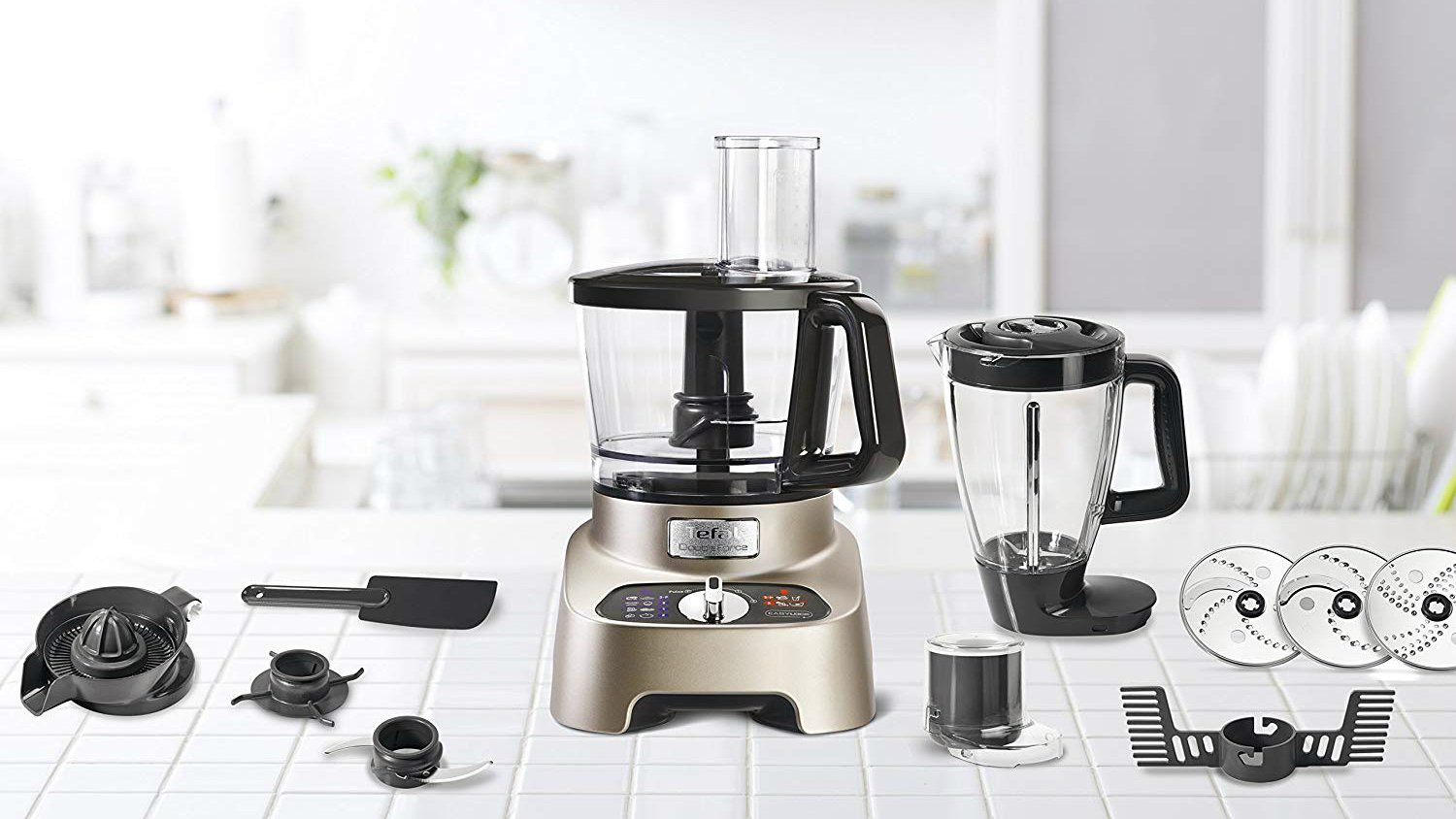 Food processor in the kitchen