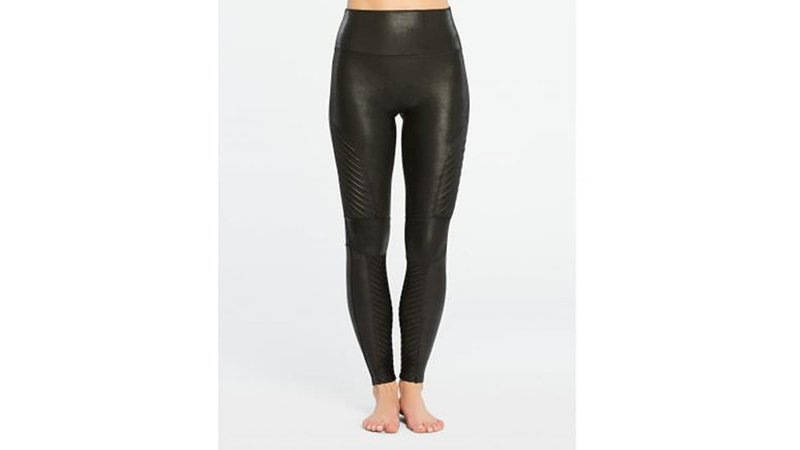 c7f50d446eafa This biker-style pair from Spanx combine an edgy look and a comfy feel. Made  from nylon (87%) and elastane (13%), they feel thicker than your average ...