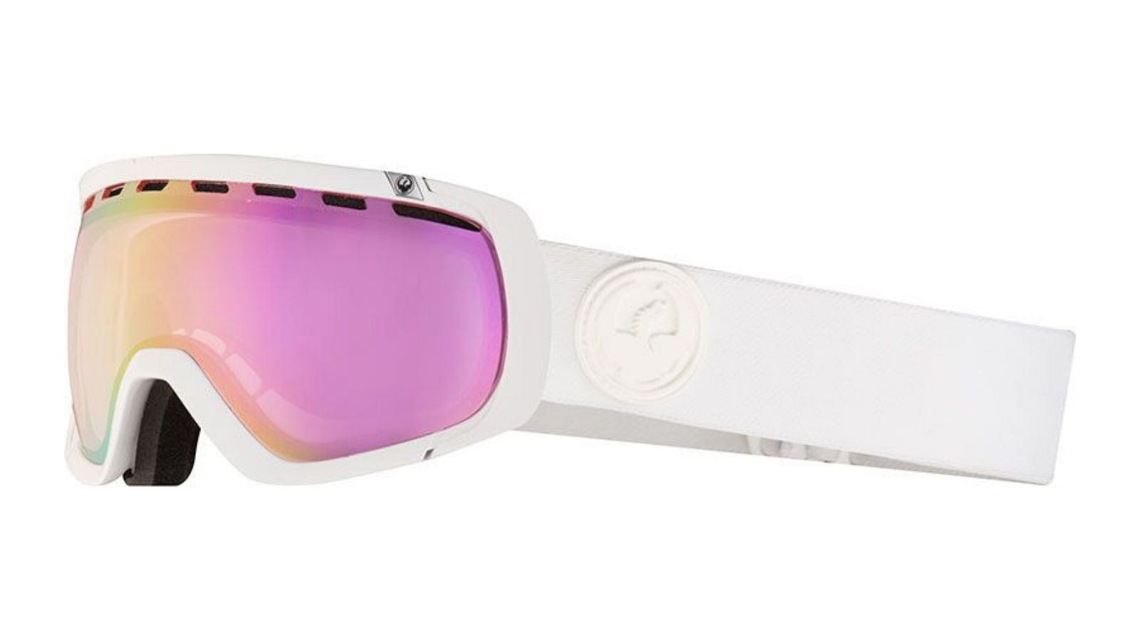 2a4b99857ec These Rogue snow goggles from Dragon are sure to keep you on the slopes no  matter the weather. The pink-tinted lenses have a 60% VLT