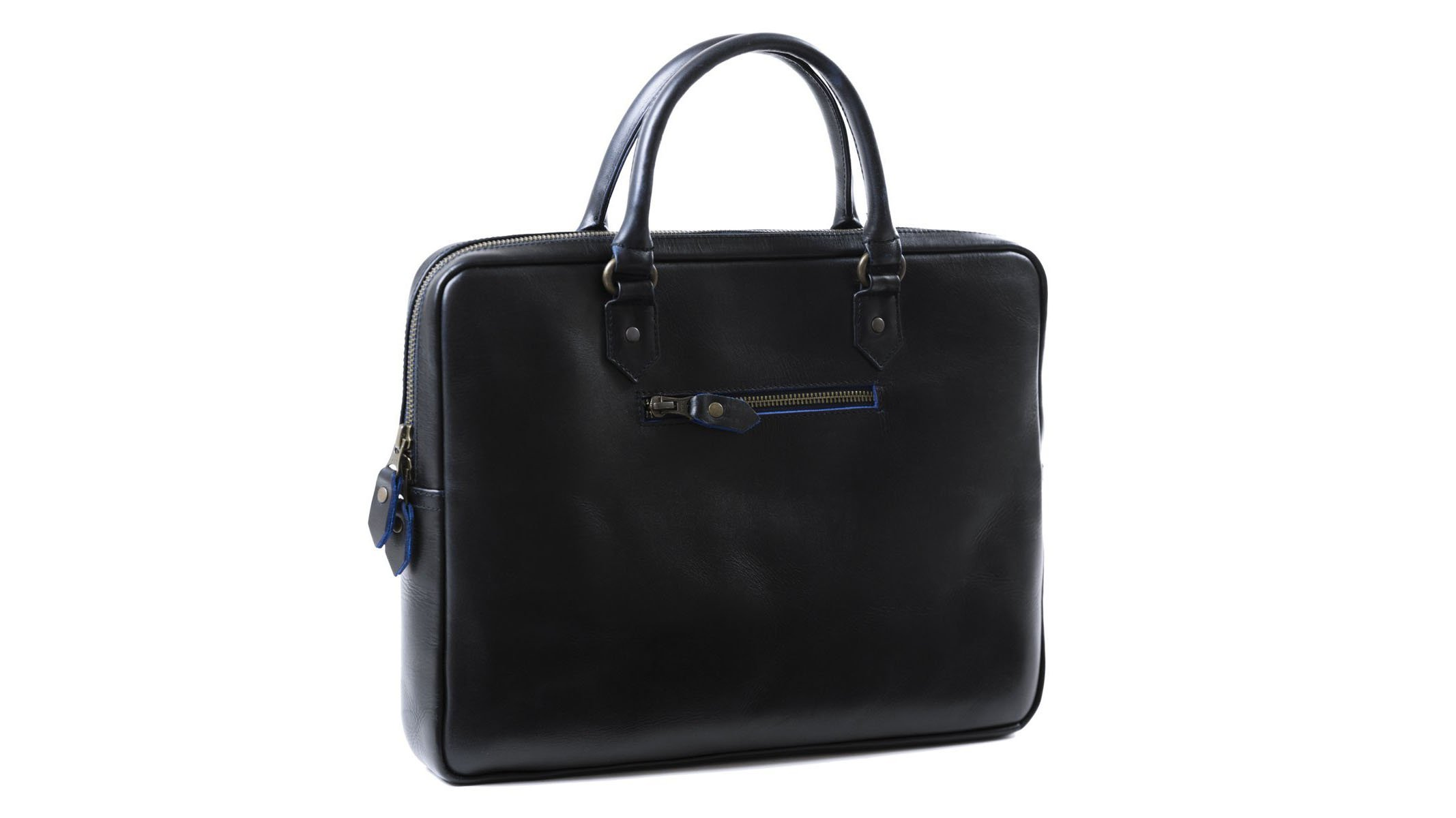 cf0604edb5f Designed for the stylish entrepreneur, Buckle & Seam's laptop bag's looks  couldn't be much further from the average. Available in brown or midnight  blue ...