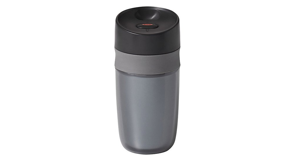 ba582b950b6 It might be smaller than your average mug but this leakproof vessel from  Oxo is super sturdy and can be opened and closed with one hand, making it a  great ...