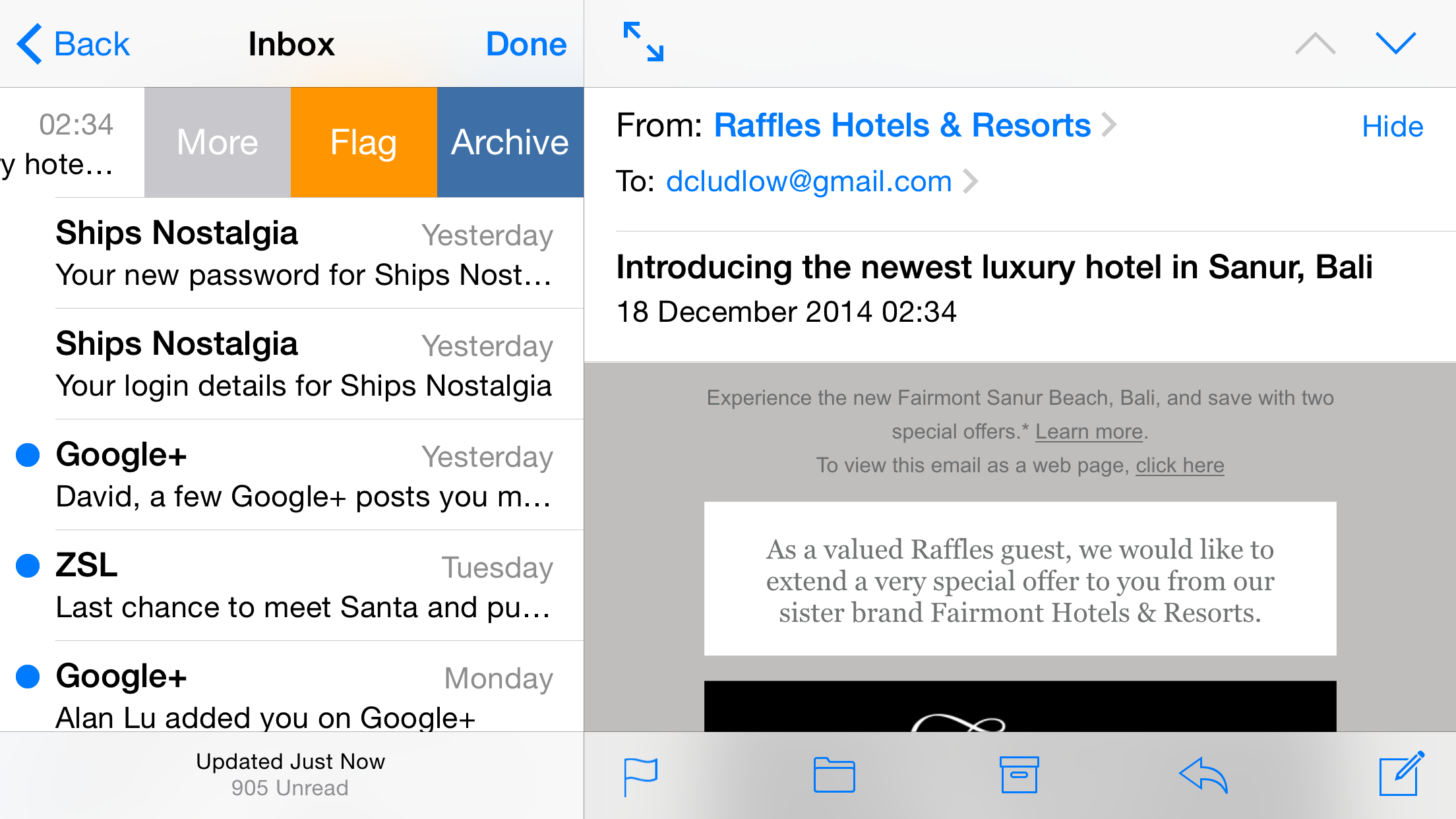 How to delete archived emails in gmail on ipad