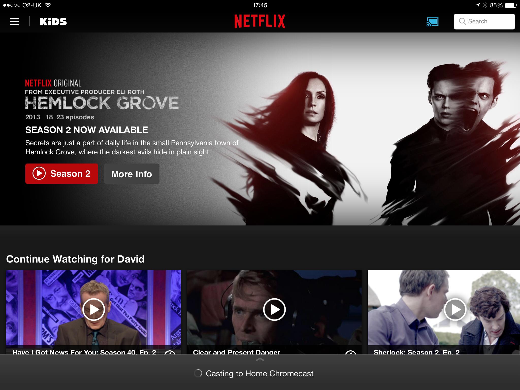Google Chromecast Netflix, DLNA, iPlayer and catch-up TV