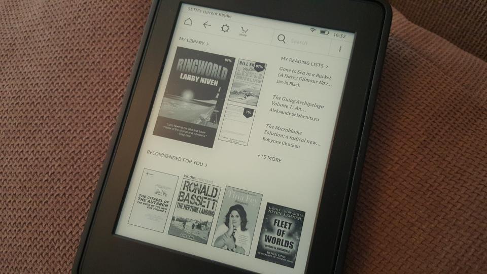 Kindle nouvelle interface menu