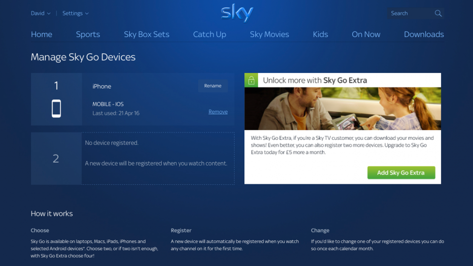 How to add, remove and change devices on Sky Go | Expert Reviews