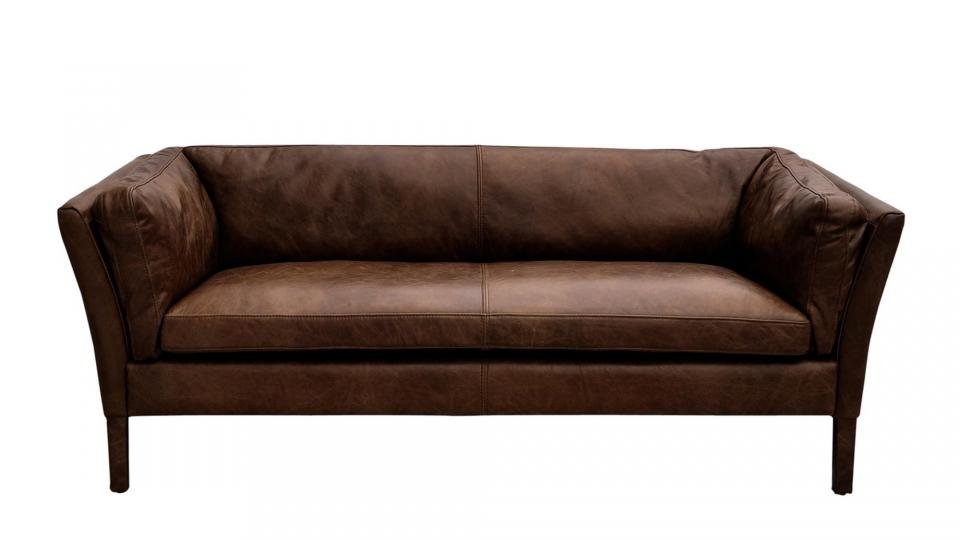 We Love The Straight Lines And Low Back Of This Contemporary Looking Old  Saddle Leather Sofa, And While Itu0027s Available In Three Sizes (plus An  Armchair And ...