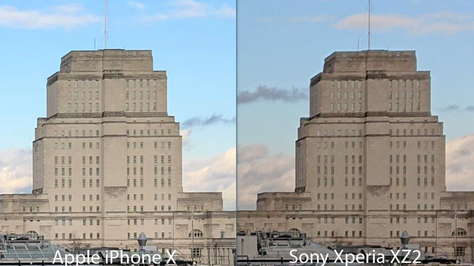 Sony Xperia XZ2: ảnh chụp ban ngày