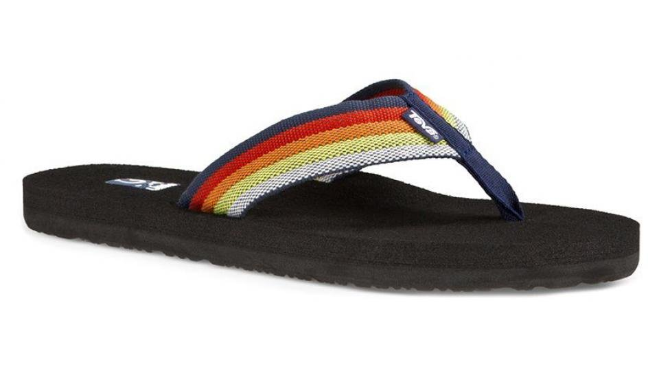 cec124e48db8 Teva s Mush flip-flops offer comfort and durability without compromising on  style. The strong canvas strap feels sturdy and looks fantastic