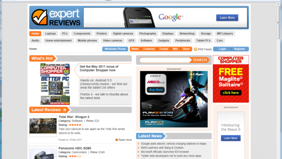 Microsoft Internet Explorer 9 review | Expert Reviews